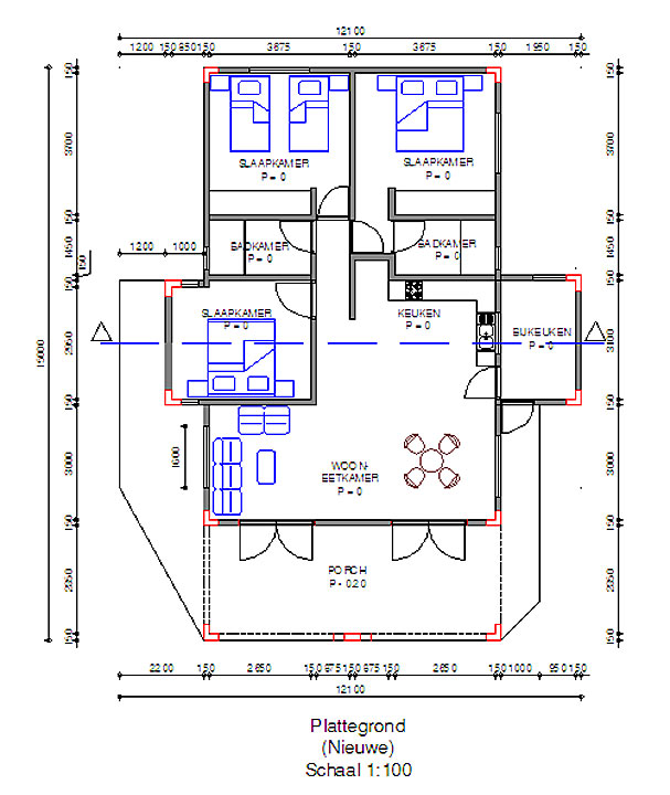 Plattegrond Regatta huis te huur