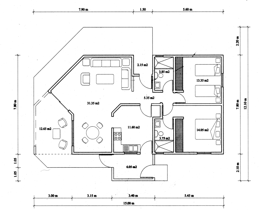 plattegrond-2-slaapkamer